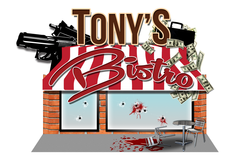 Tony's Bistro Escape Room Novi Header Text